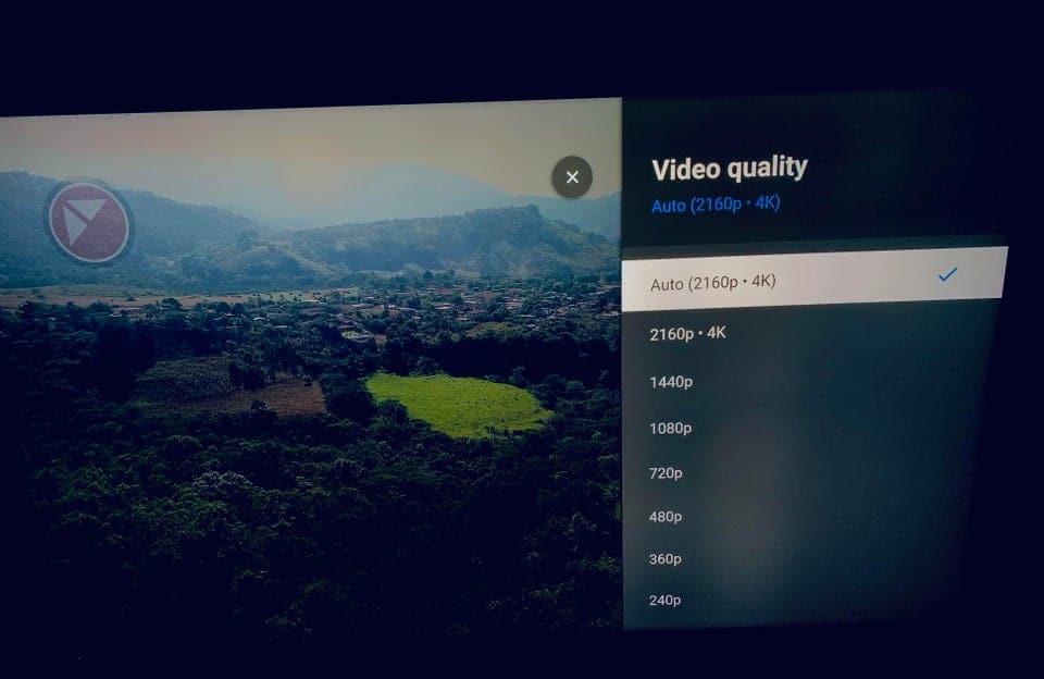tvOS rodando conteúdo em 4K no YouTube