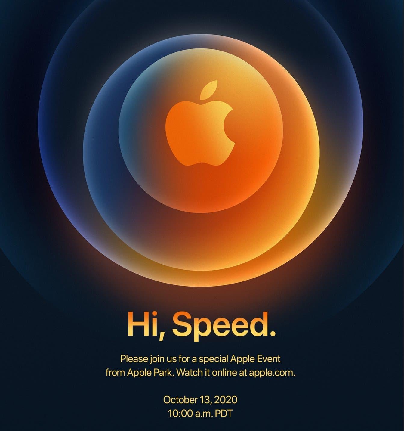 Convite do evento que deve apresentar o novo iphone 12