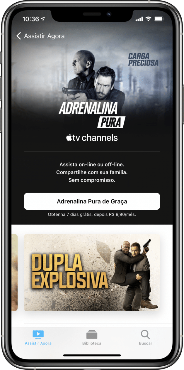 Adrenalina Pura nos canais da Apple TV