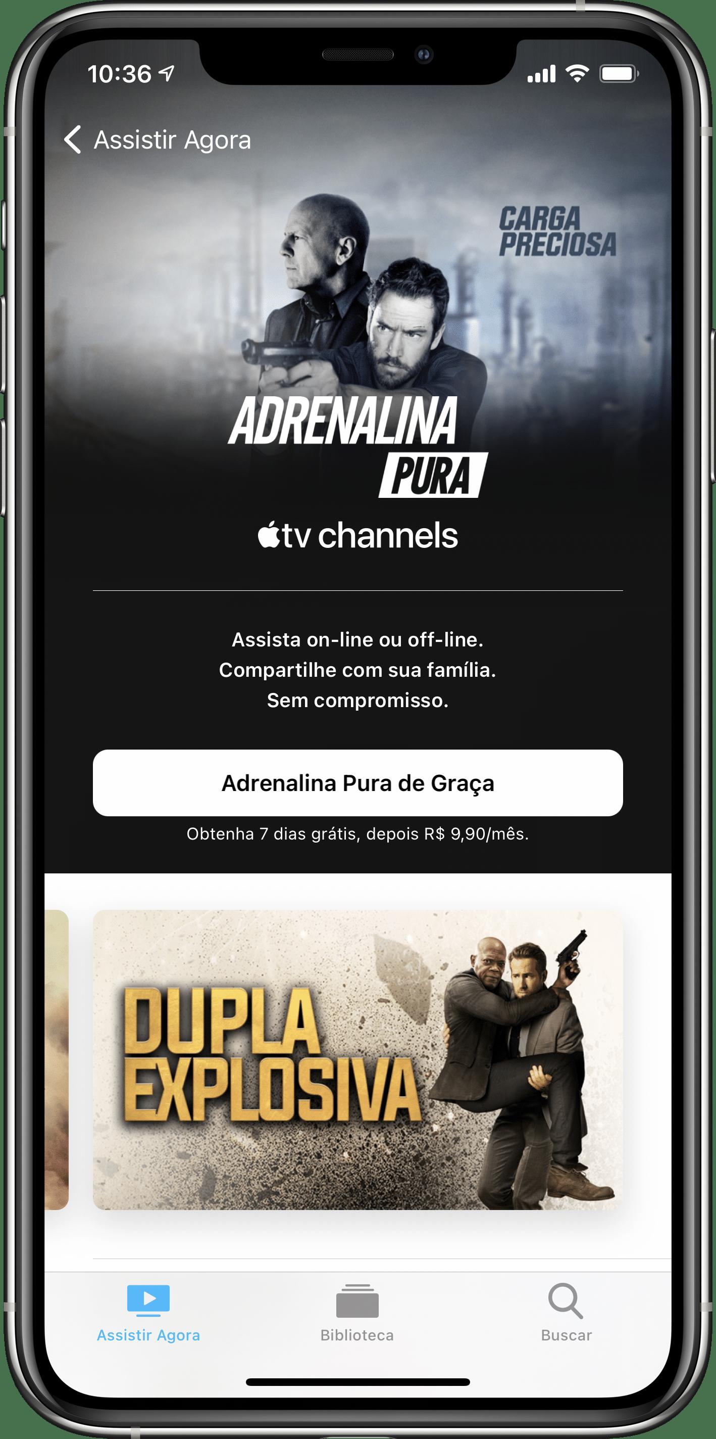 Adrenalina Pura nos canais da Apple TV