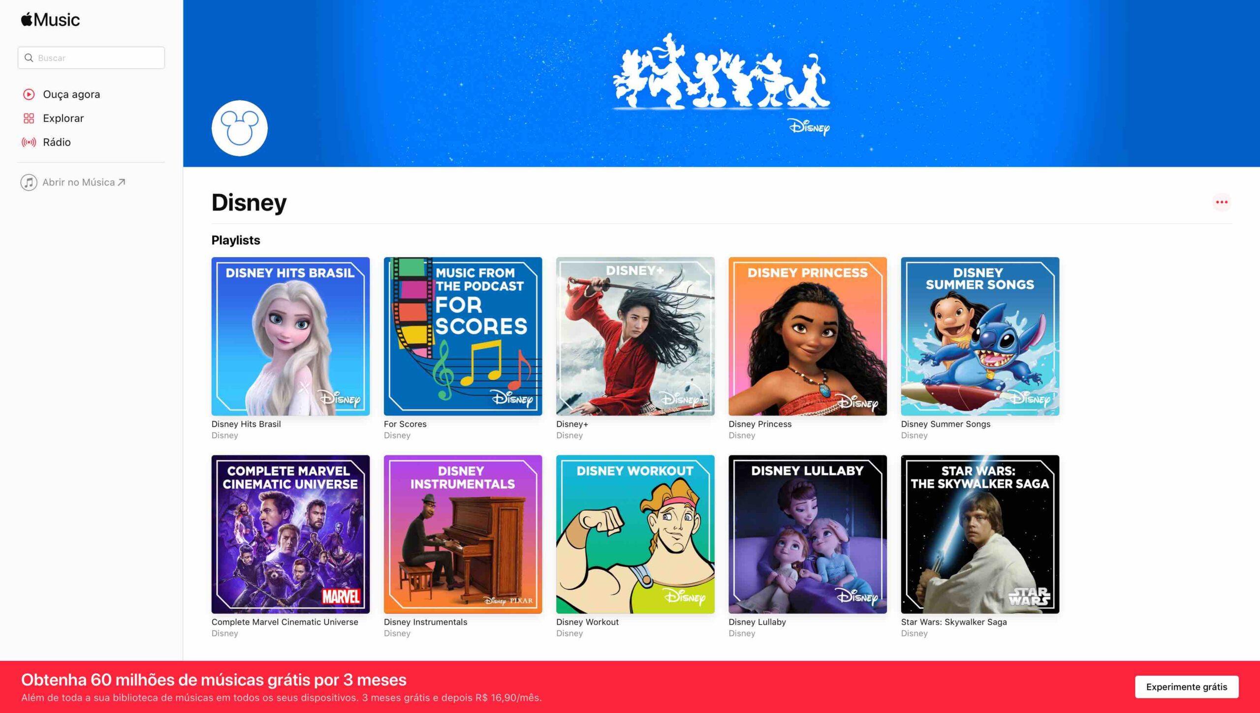Disney no Apple Music