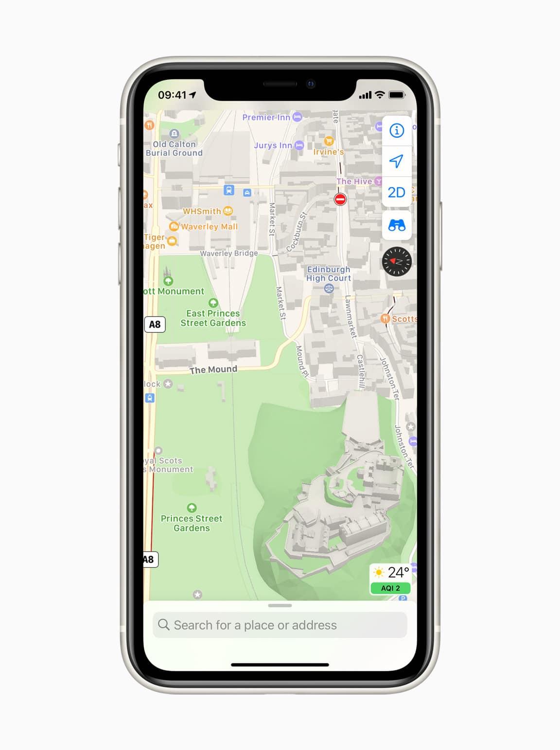 Novos Mapas da Apple no Reino Unido e na Irlanda