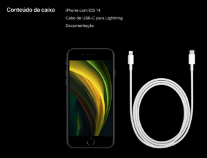 iPhone SE sem EarPods e sem carregador de tomada