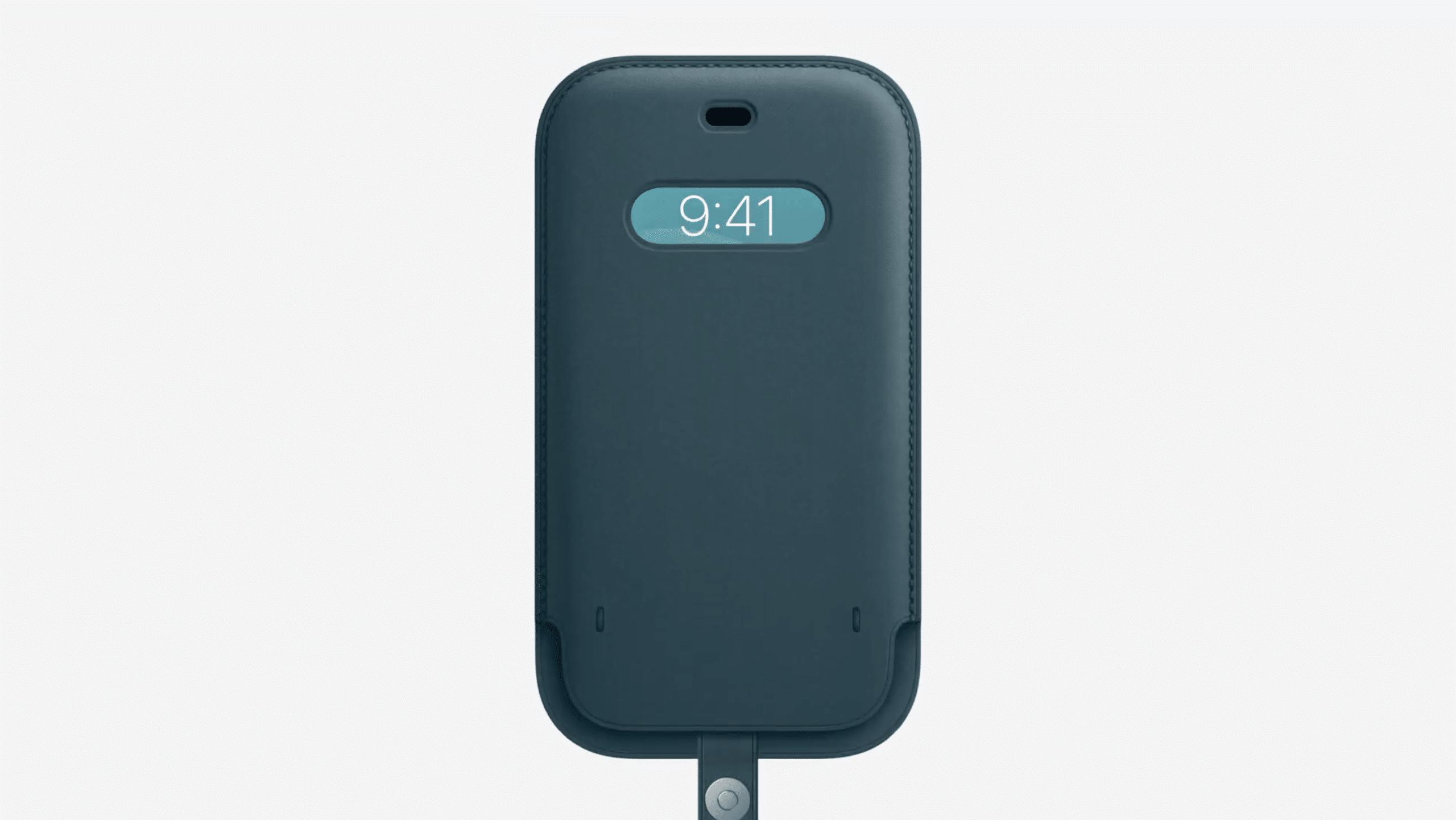 Leather Sleeve com MagSafe para iPhone 12