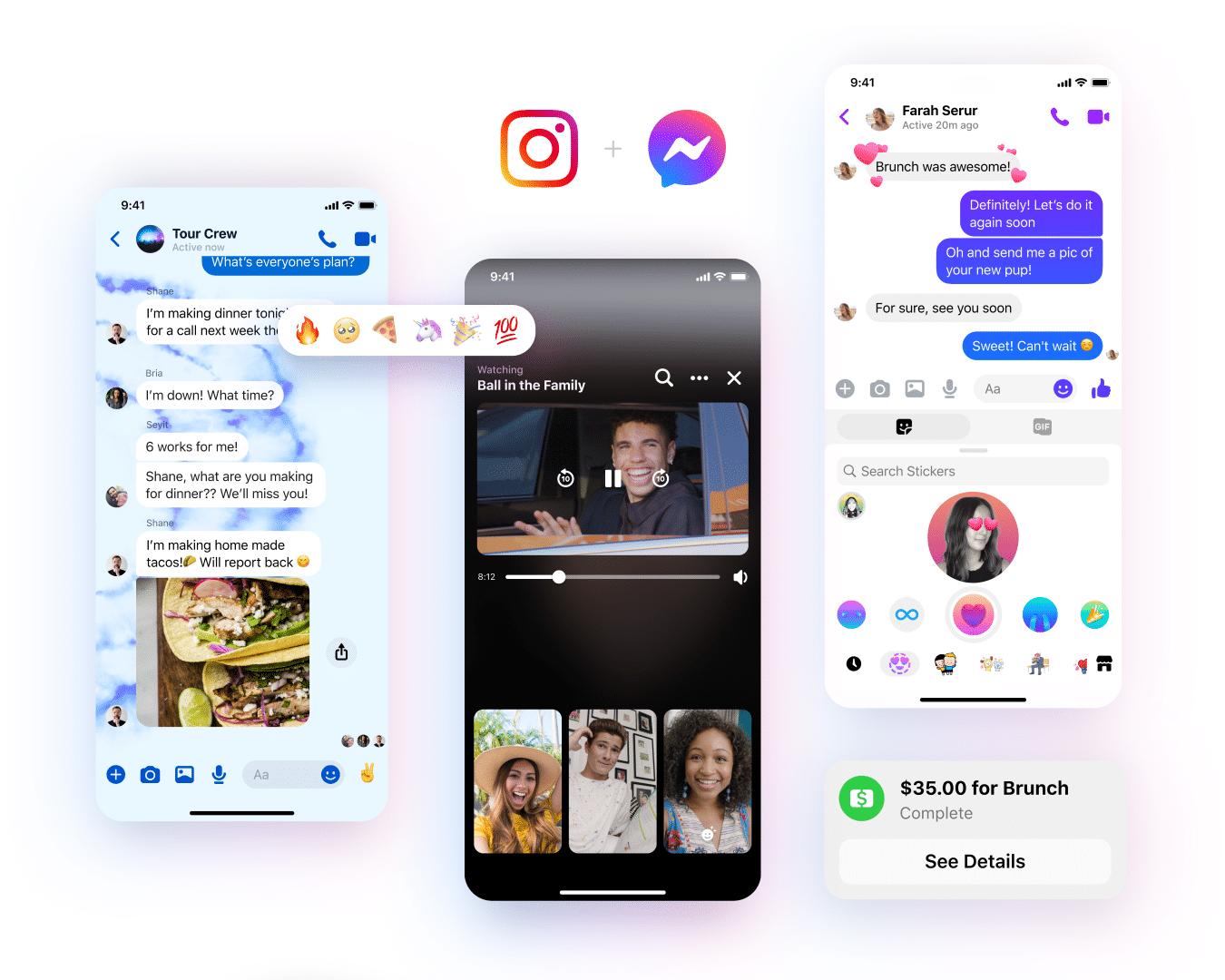 Messenger e Instagram