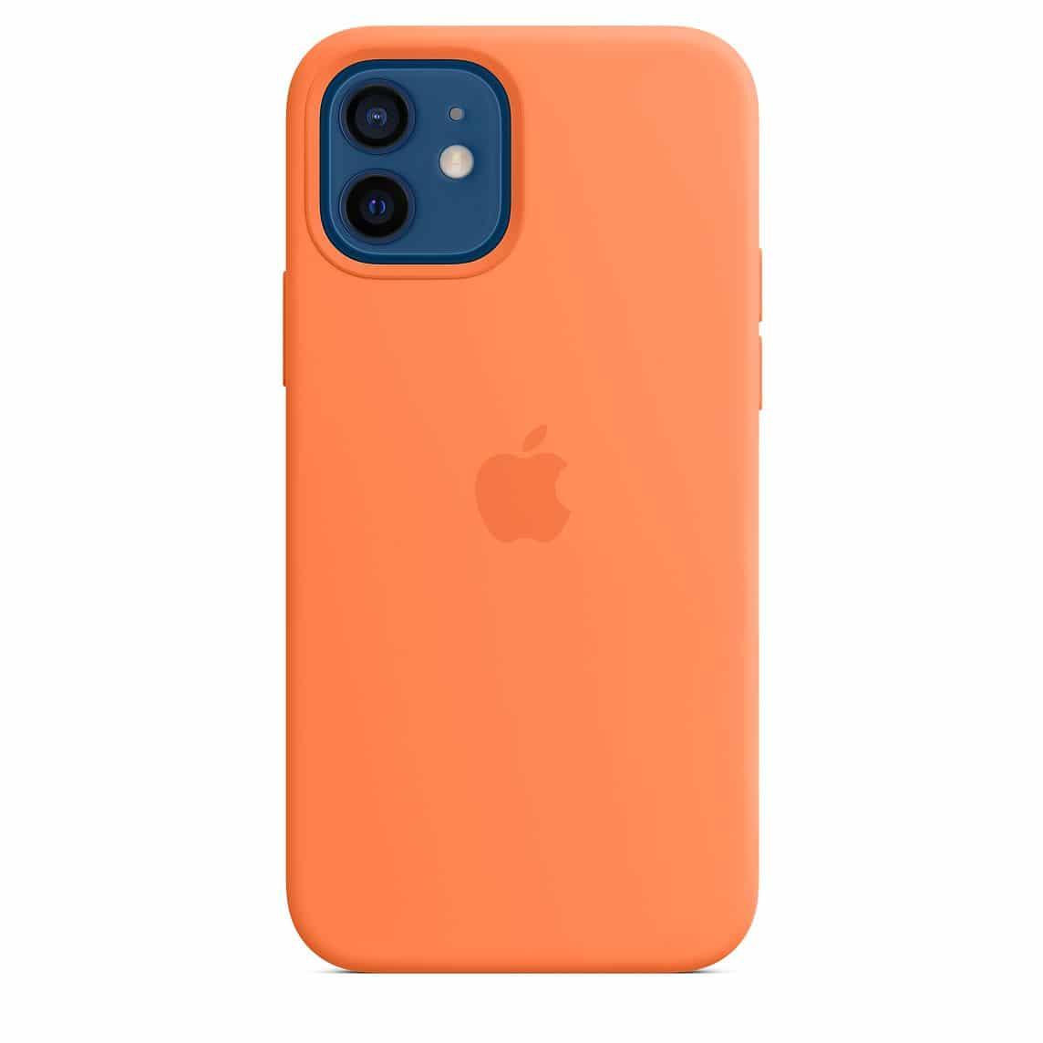 Case de silicone com MagSafe para iPhone 12