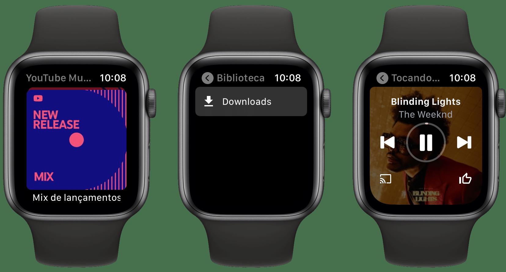 App YouTube Music para Apple Watch