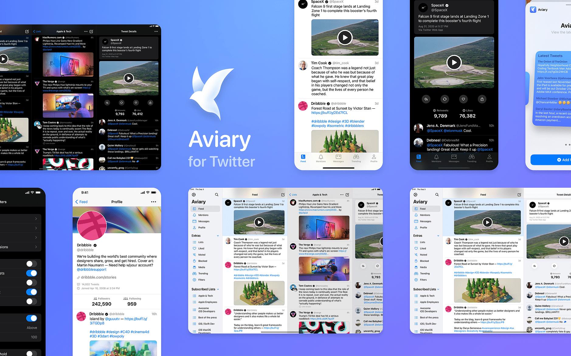 Aviary, cliente do Twitter para iOS e iPadOS