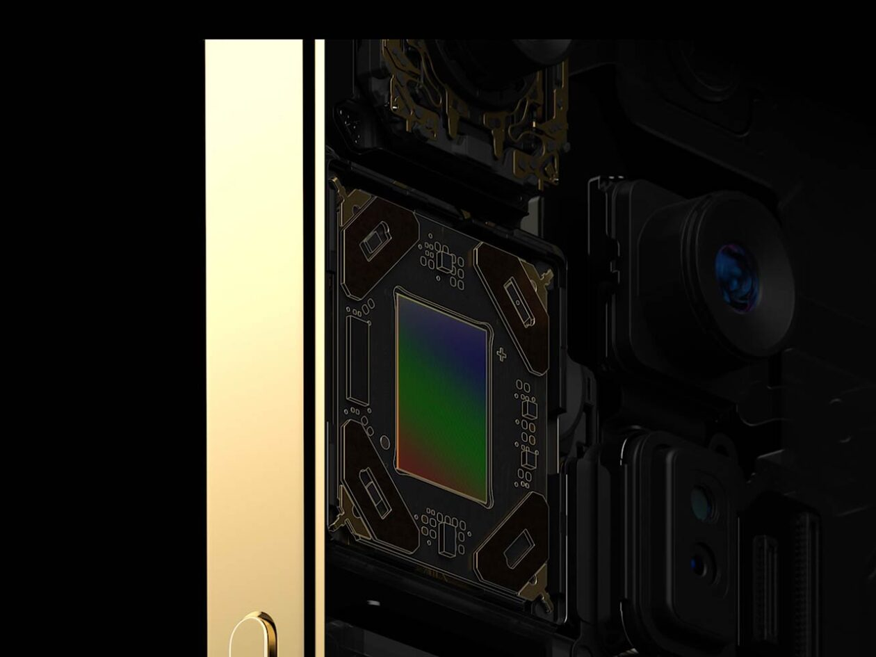 Sensor-shift na câmera do iPhone 12 Pro Max