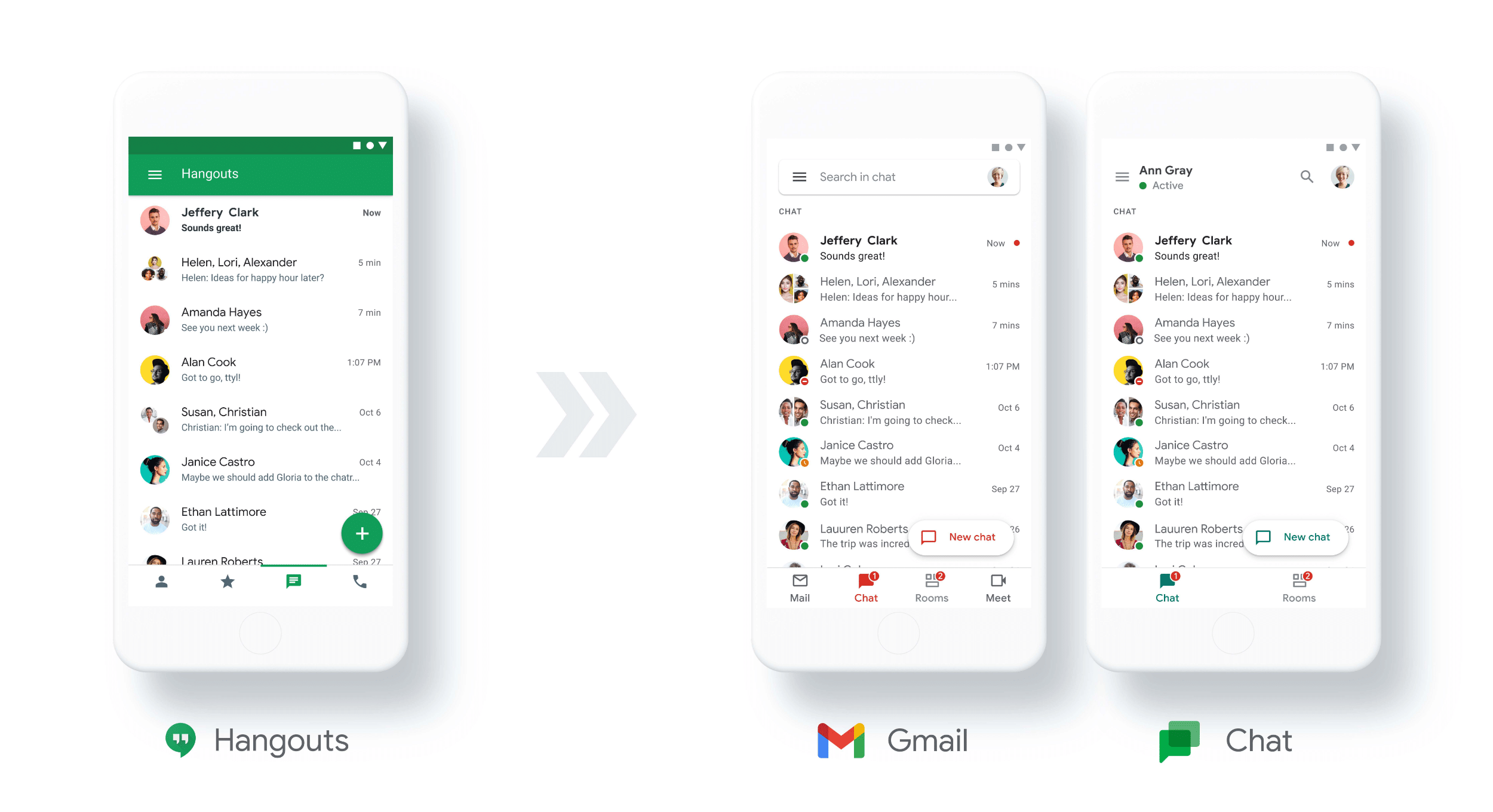 Google Chat e Hangouts