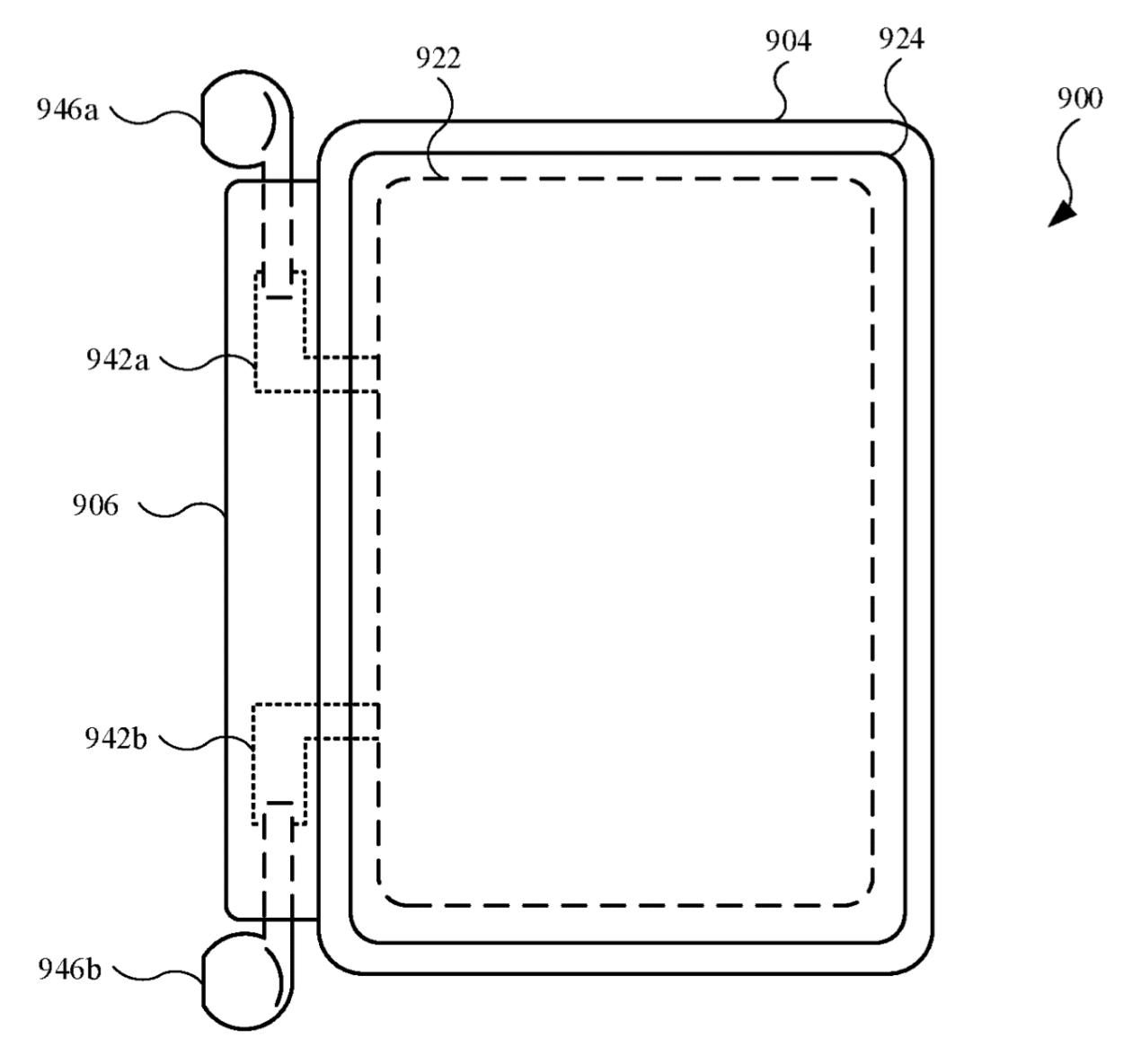Patente de capa com carregador de AirPods para iPhone