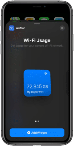 Widget do WifiMan