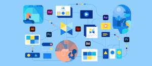 Banner de apps da Adobe