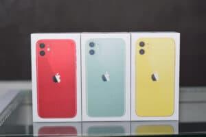 Caixas de iPhones 11