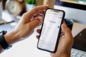 Busca do Google em iPhone