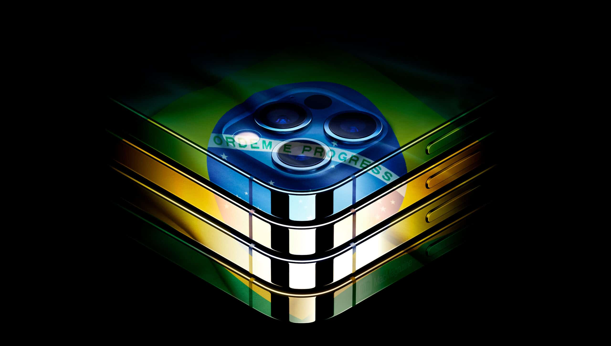 iPhones 12 Pro com a bandeira do Brasil (by MacMagazine)