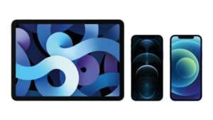 iPad Air e iPhones 12 e 12 Pro