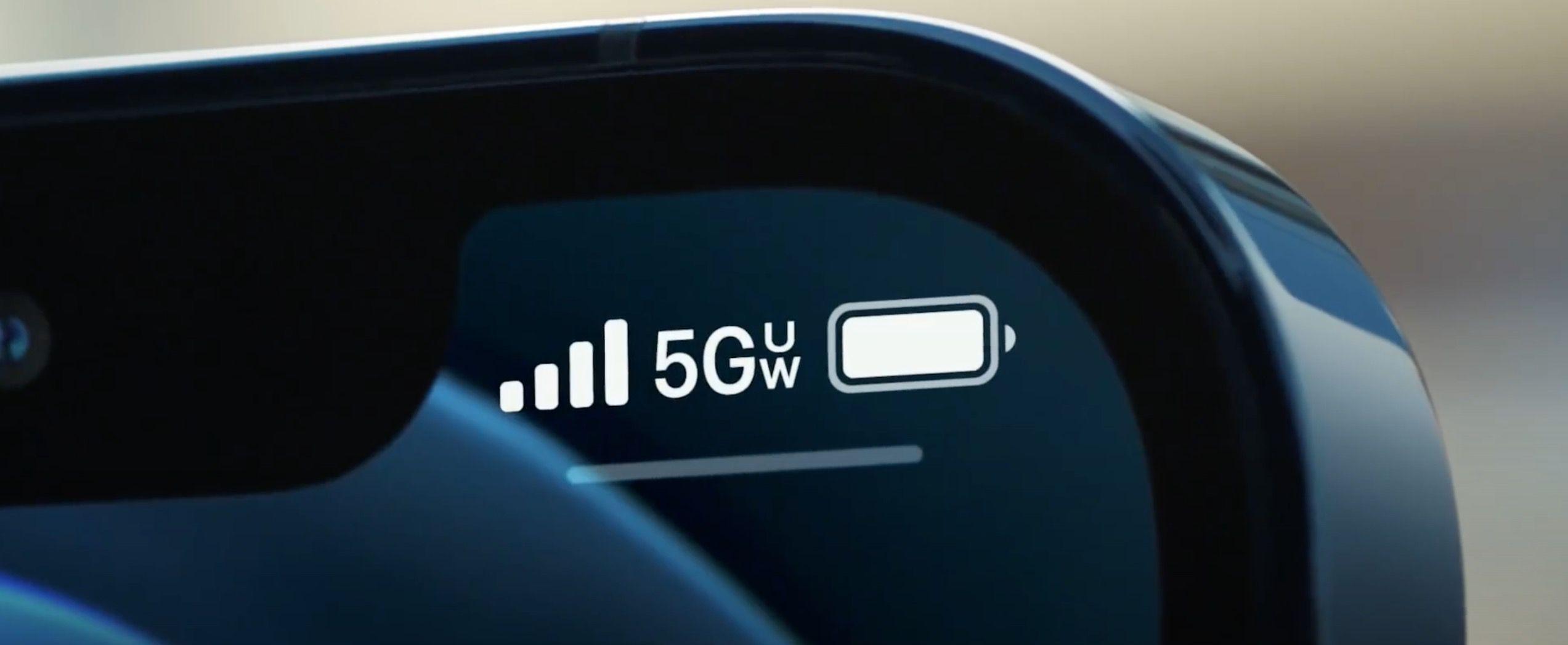 Simbolo do 5G no iPhone 12