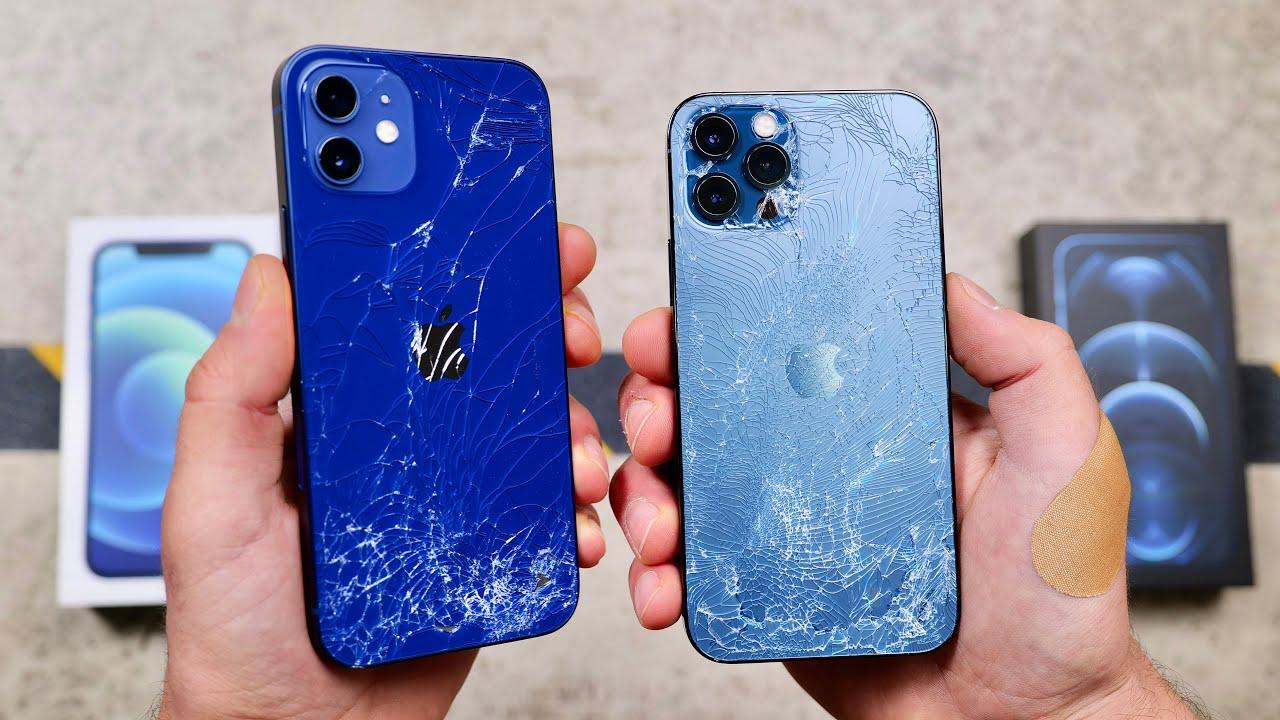 Teste de resistência dos iPhones 12