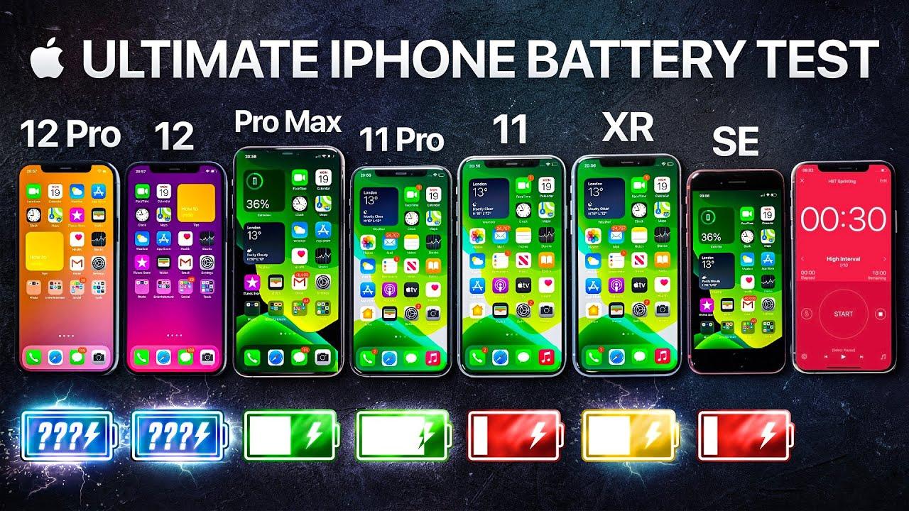 Teste de bateria entre iPhones