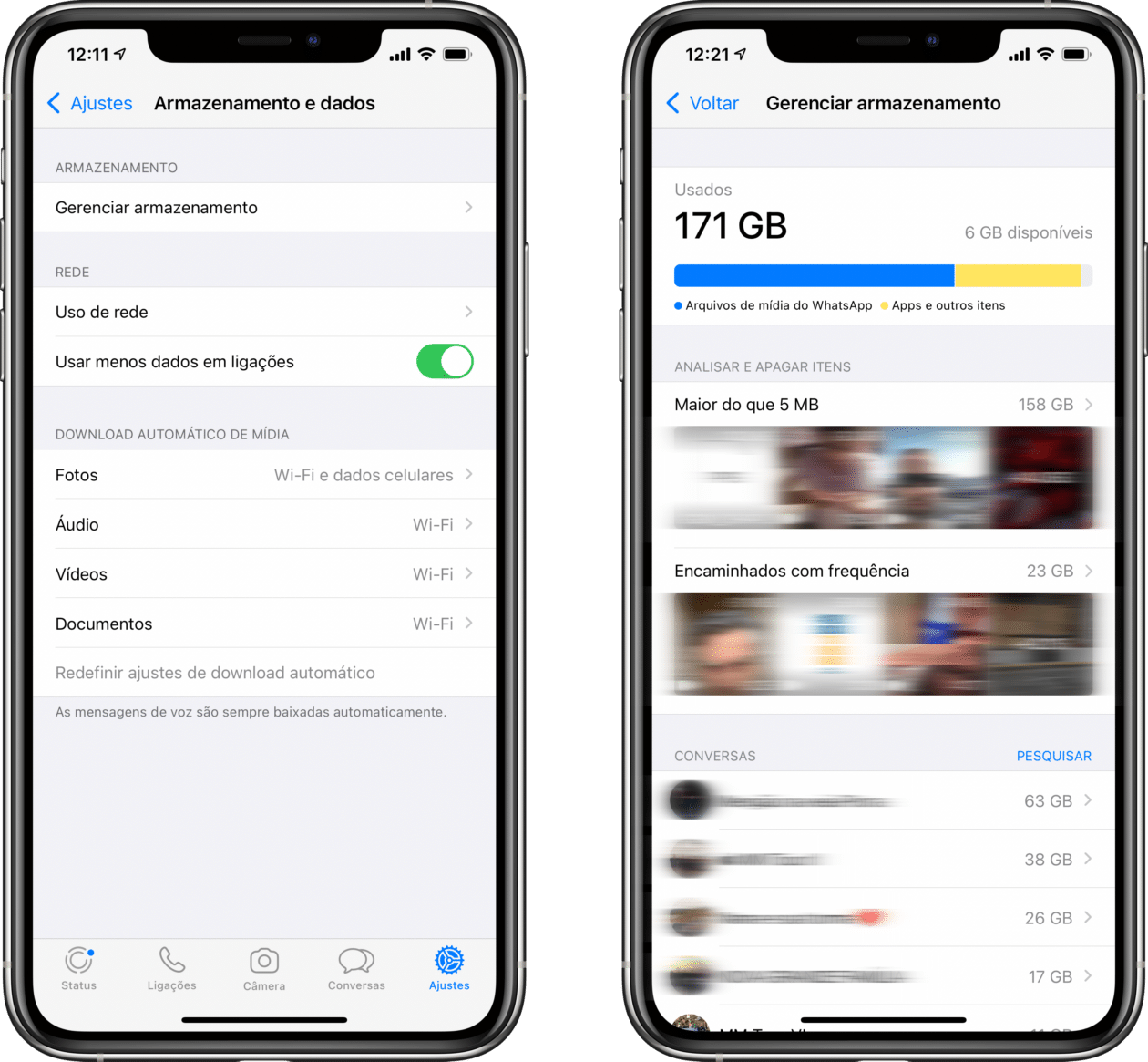 Novidades do WhatsApp Messenger beta
