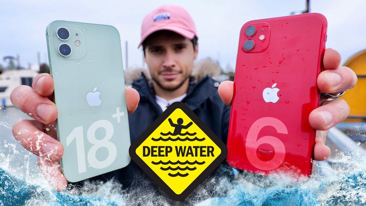 Teste de resistência de profundidade do iPhone 12