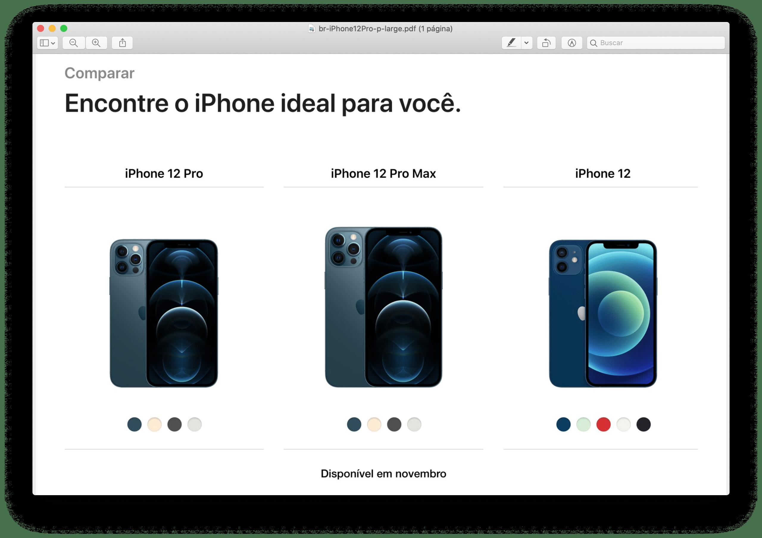 PDF do iPhone 12 Pro na Vivo