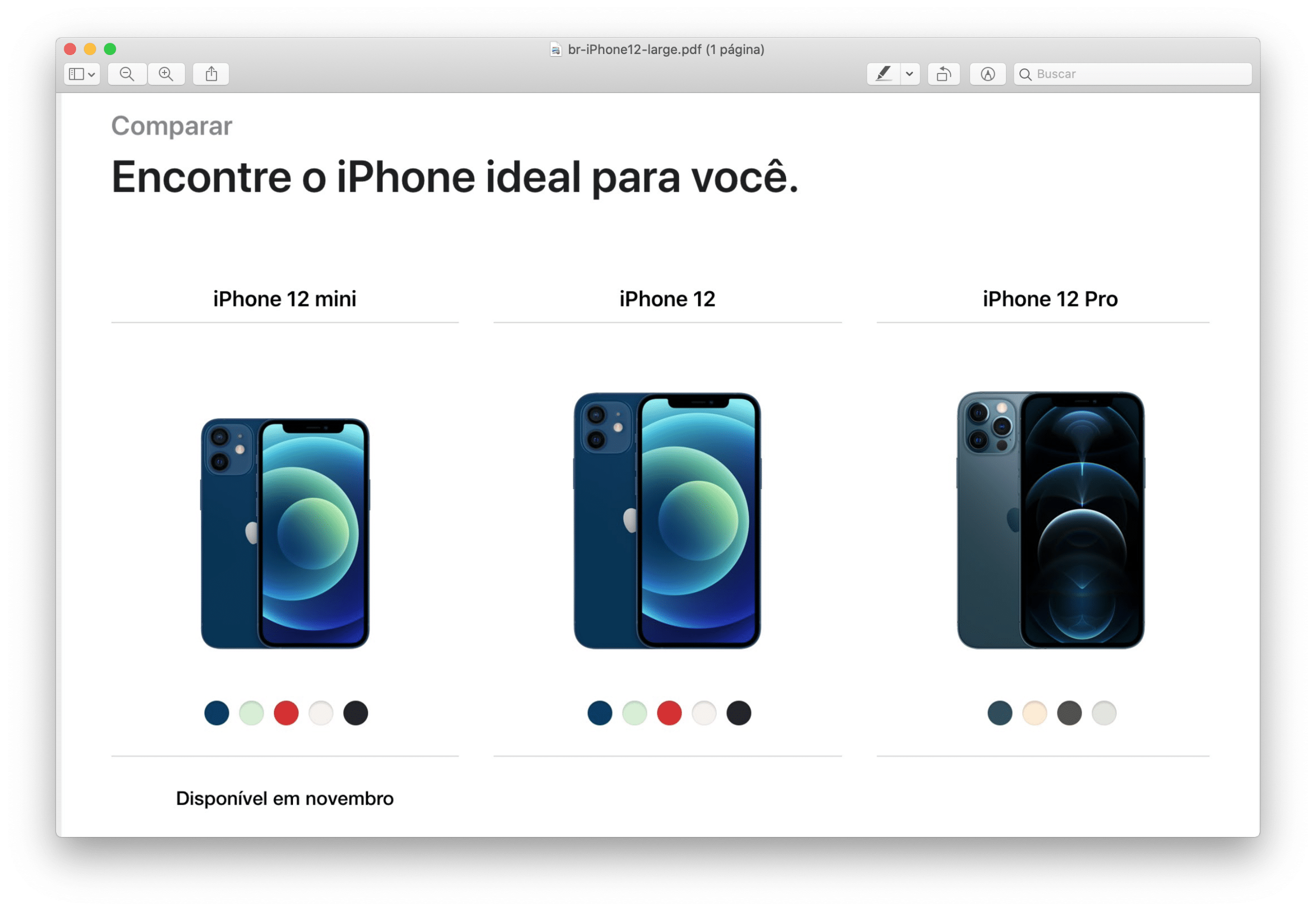 PDF do iPhone 12 na Vivo