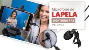 Microfones de lapela da VX Case