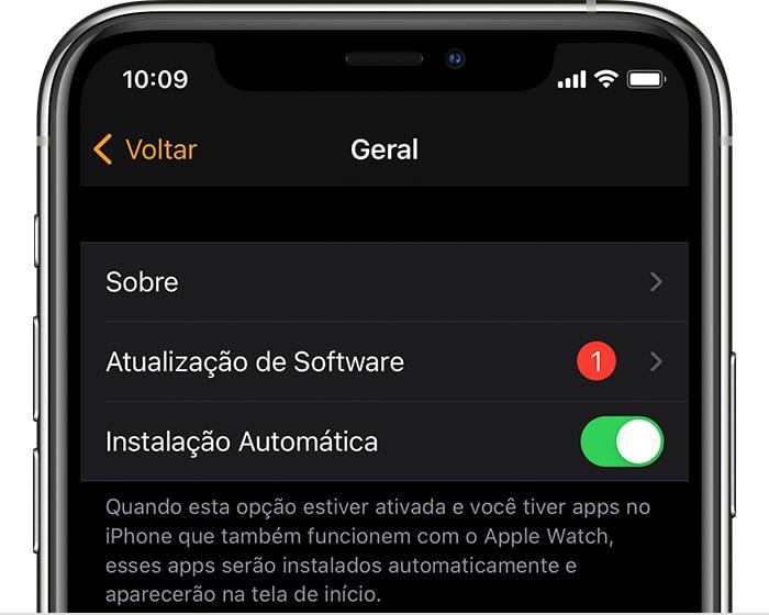 Atualizando Apple Watch