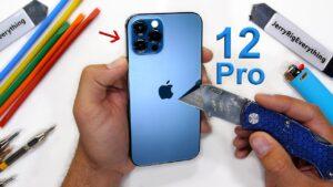 Teste de dureza do iPhone 12 Pro