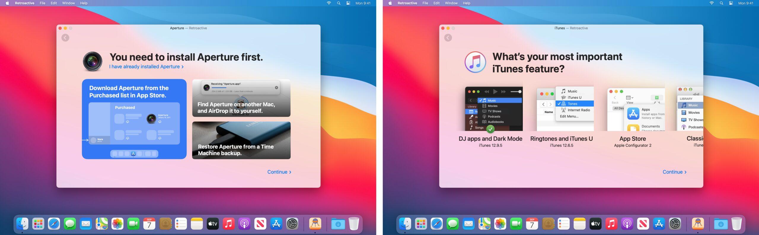 Utilitário Retroactive para macOS