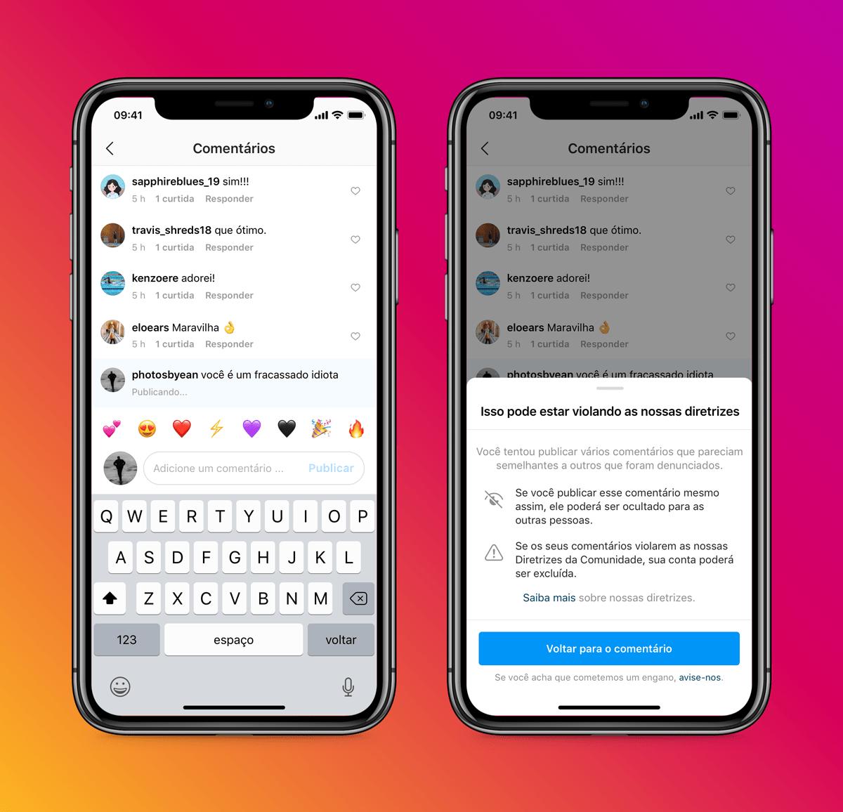 Novas ferramentas contra bullying do Instagram