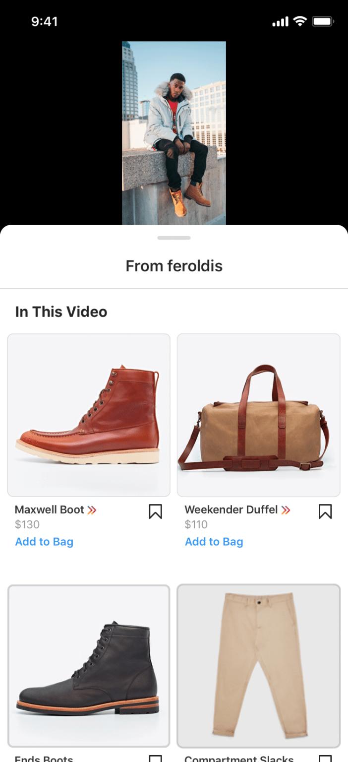 Compras no Reels do Instagram