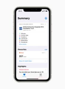 Registros de Saúde do iOS