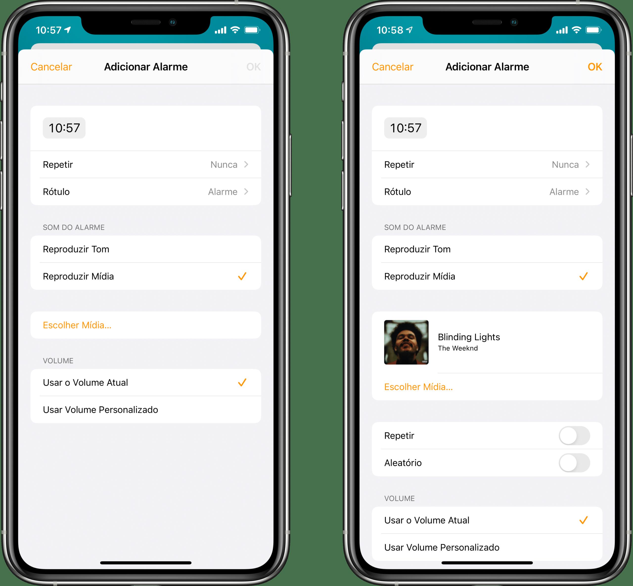 Configurando um alarme no HomePod