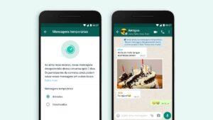 Mensagens temporárias no WhatsApp