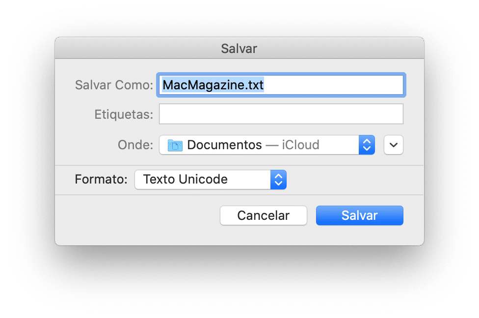 Exportando uma playlist no app Música do macOS