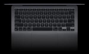 Teclado do novo MacBook Air
