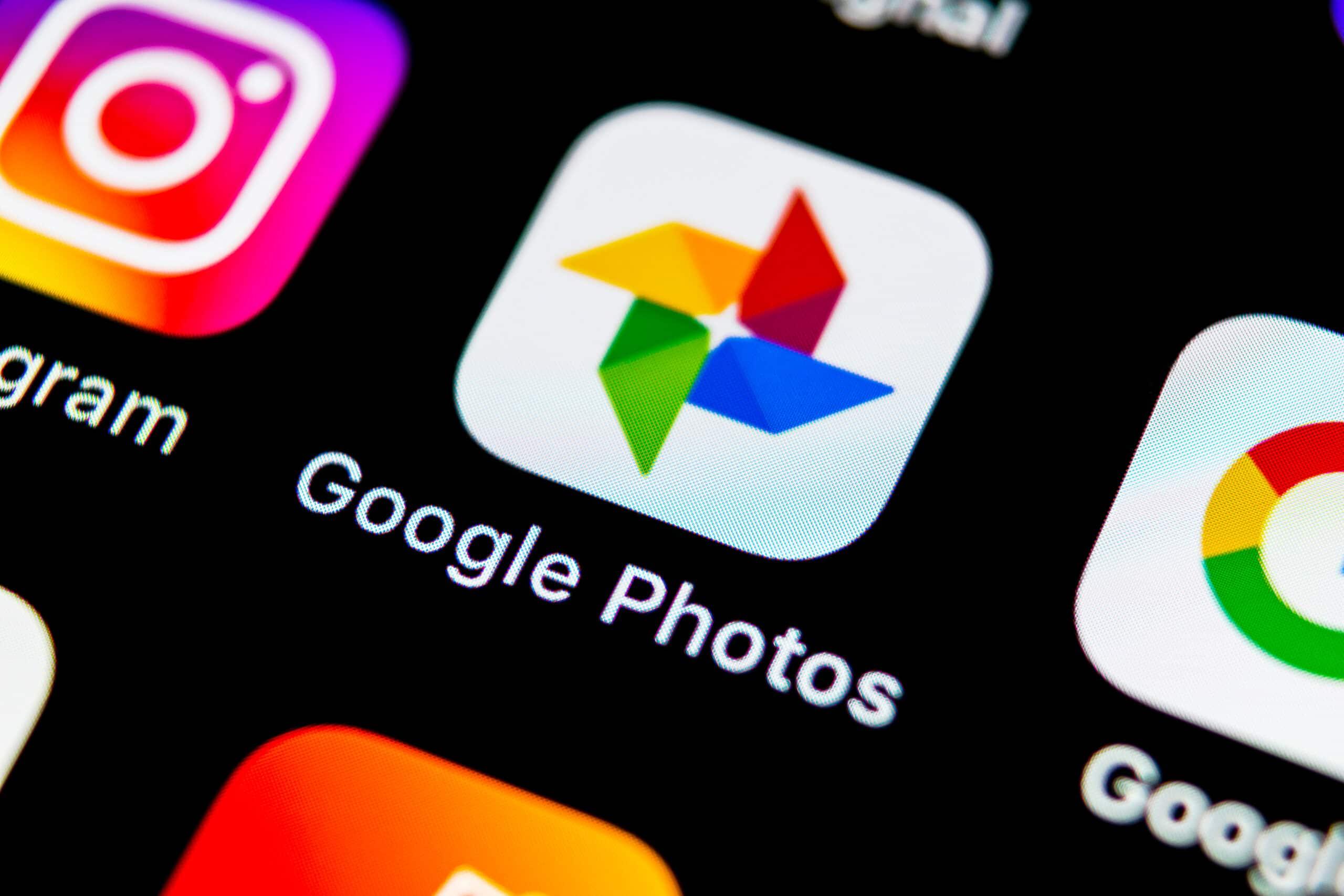 Ícone do Google Fotos em iPhone