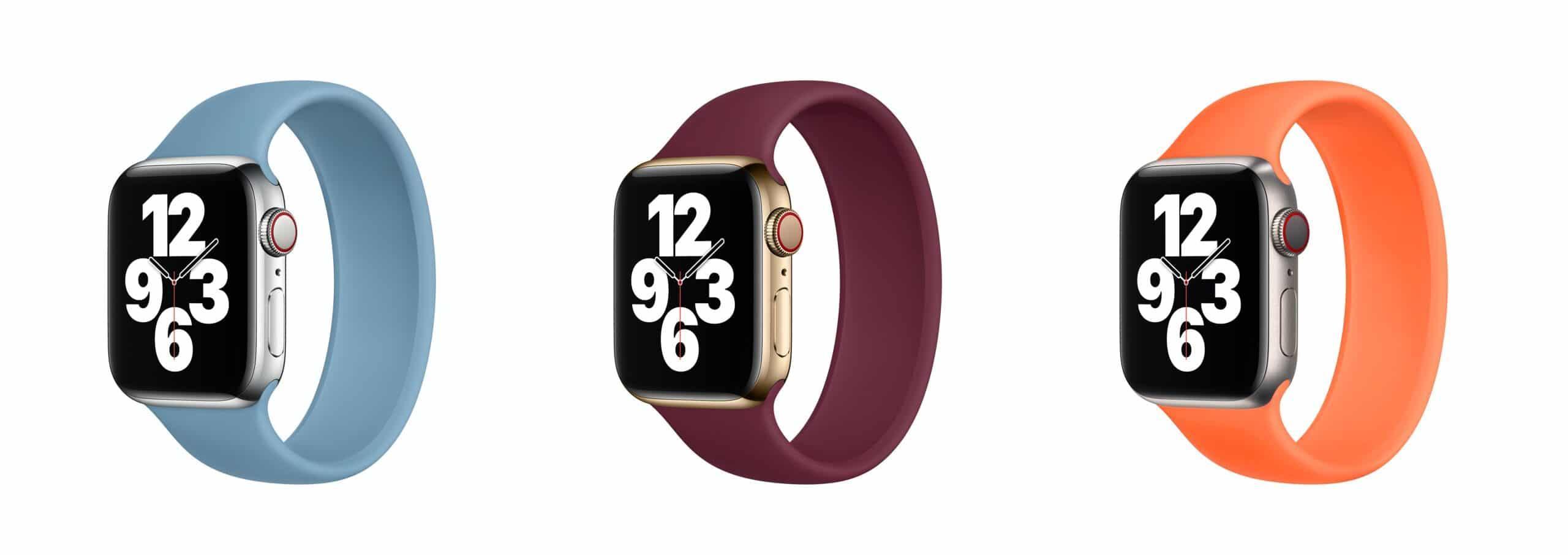 Novas cores de pulseiras para Apple Watch