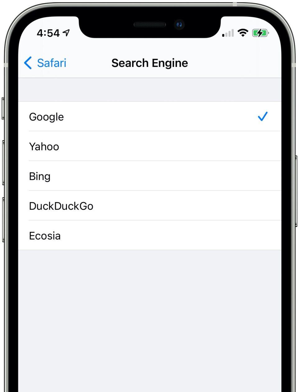 Ecosia no iOS 14.3