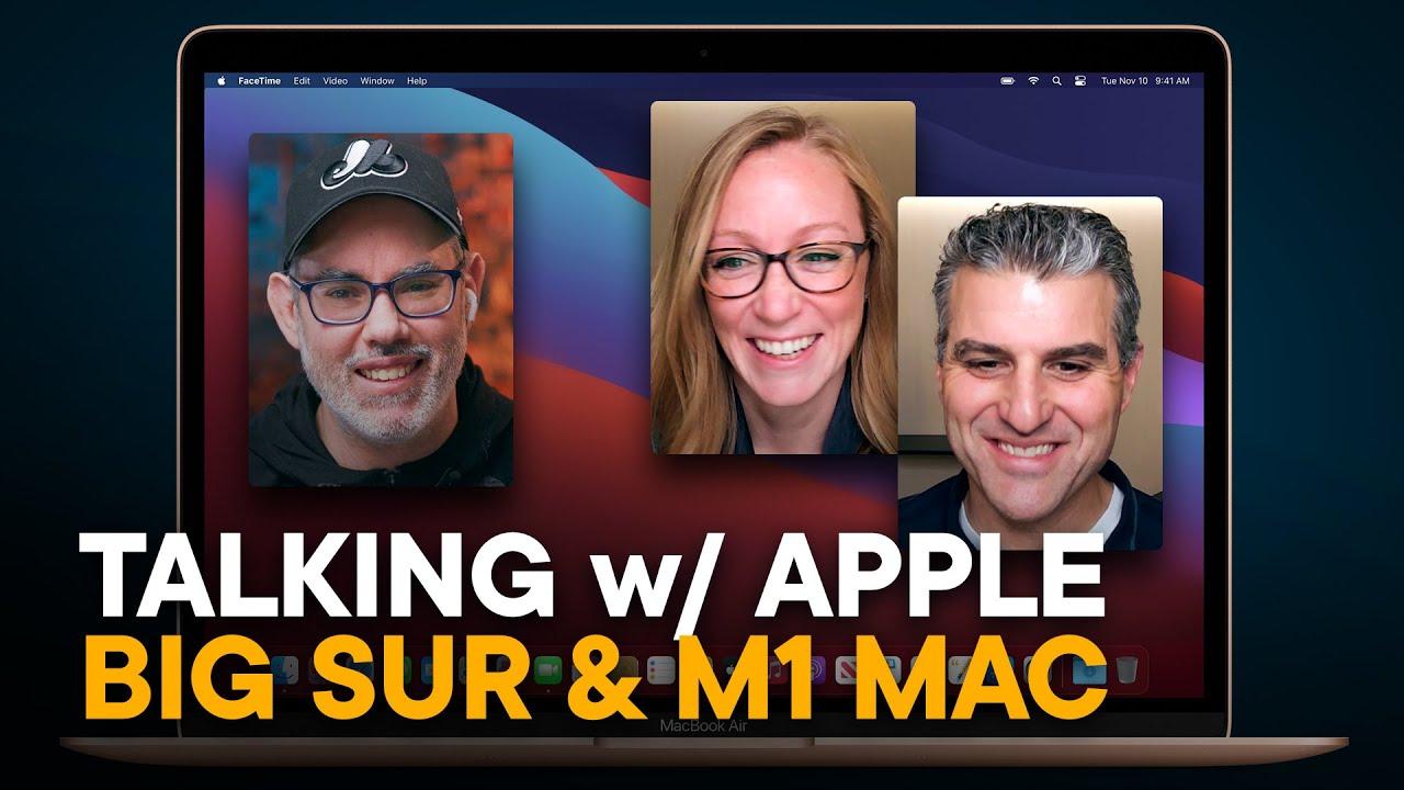 Entrevista com executivos da Apple falando sobre o M1