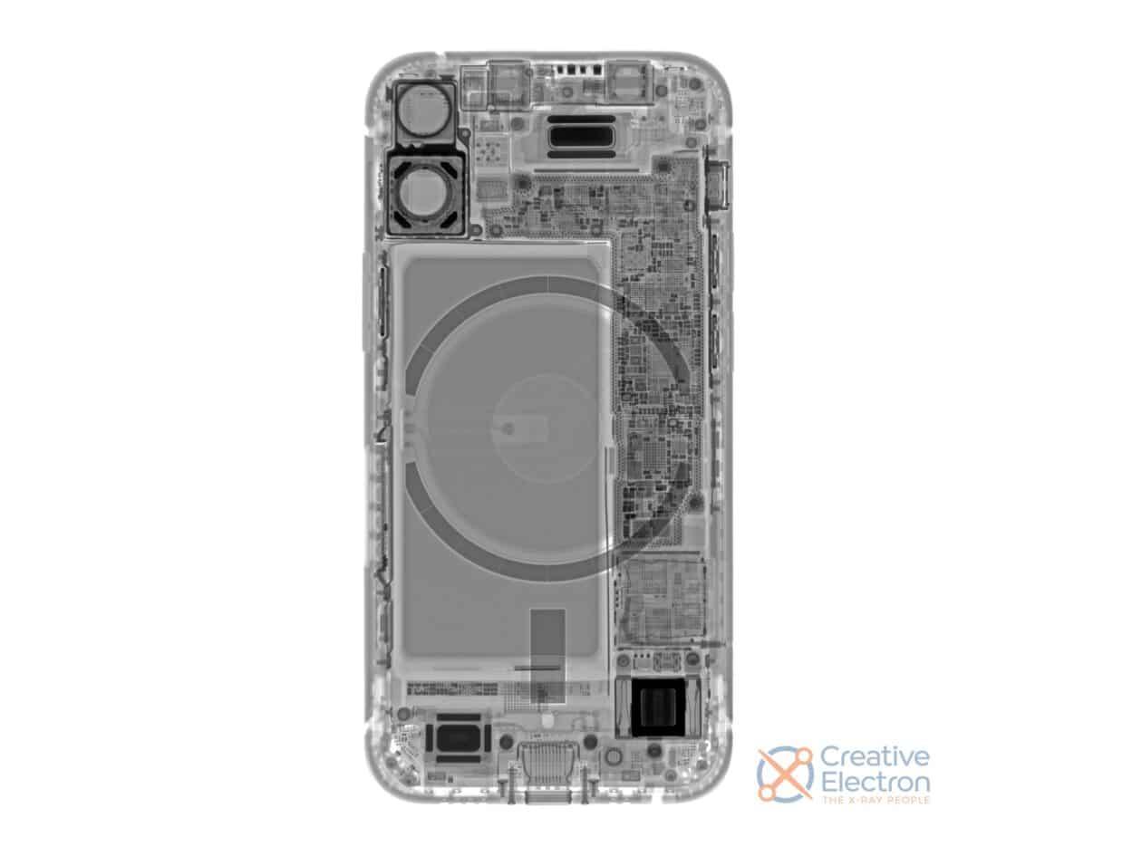 Desmonte do iPhone 12 mini feito pela iFixit