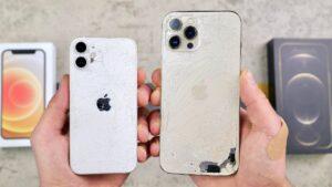 Teste de resistência com os iPhones 12 mini e 12 Pro Max