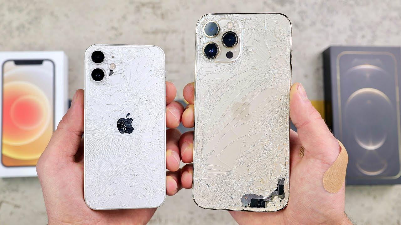 Teste de resistência com iPhones 12 Mini e 12 Pro Max