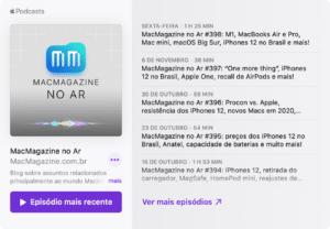 MacMagazine no Ar incorporado em um site