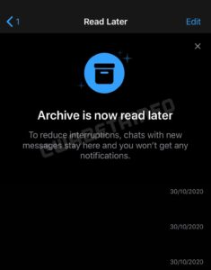 "Novidades do WhatsApp: recurso ""Ler depois"""