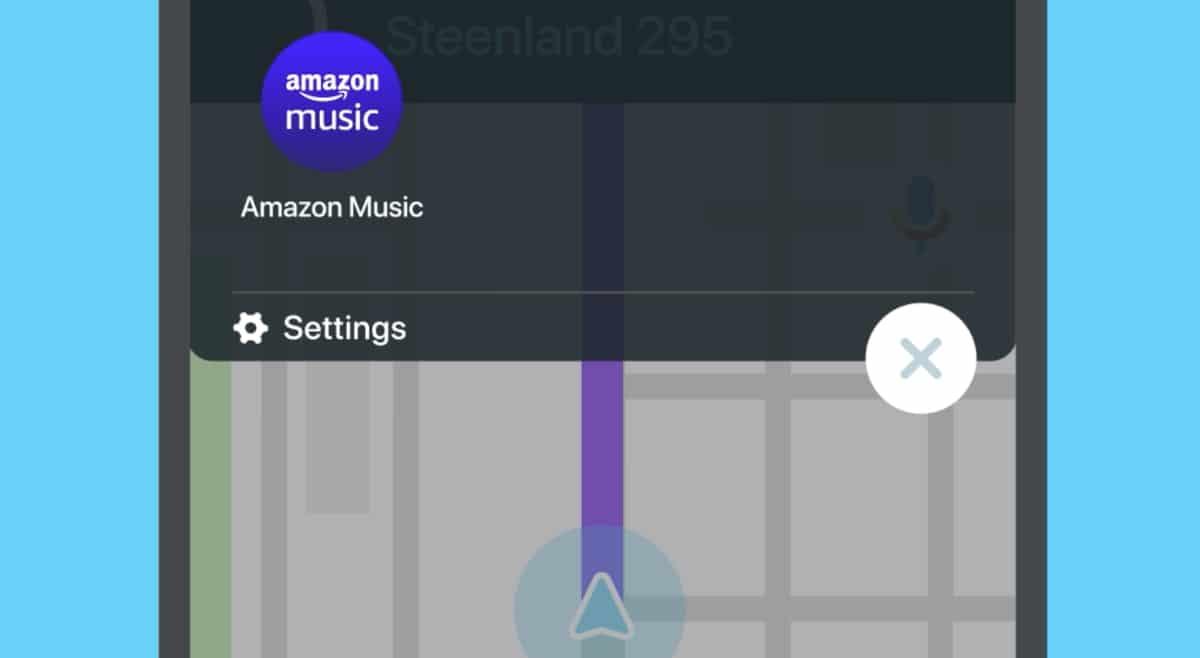 Integração do Waze com o Amazon Music