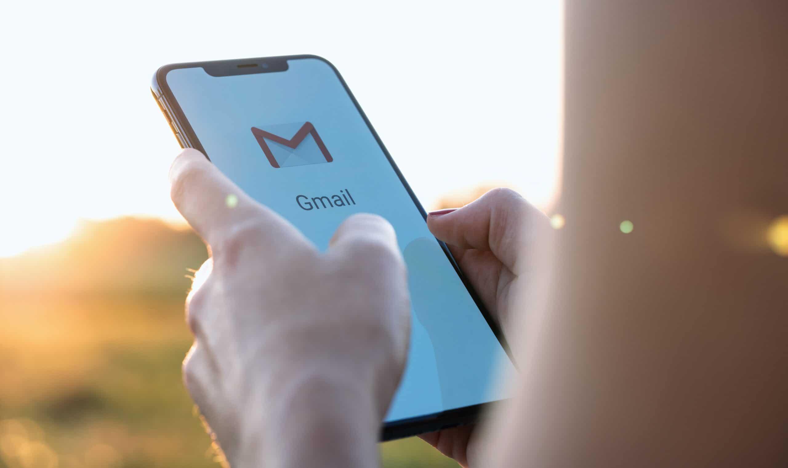Gmail rodando em iPhone